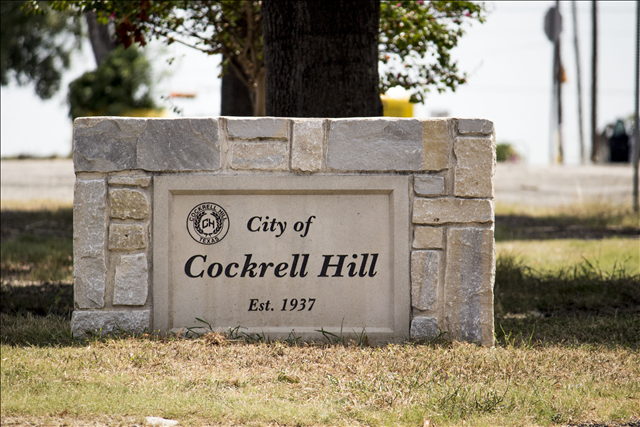City of Cockrell Hill Establish 1937 Sign